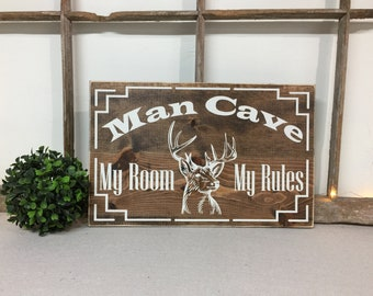 Hunters Man Cave Signs : Free shipping the man cave sign signs hunting