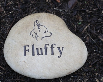 Custom Pet Memorial with name and graphic