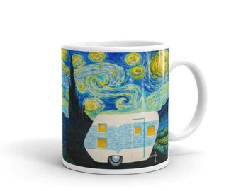 Starry, Starry Night Vintage Trailer Wrap Around Mug 11oz