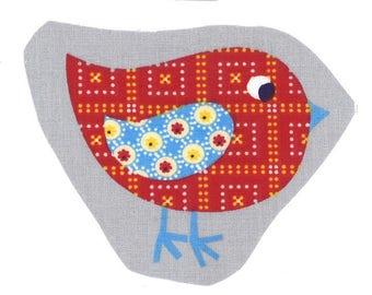 """Application textile images à coudre """"Lot de 3 oiseaux Rigolo"""""""