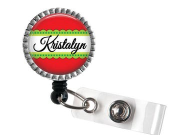 Christmas ID Badge Reel