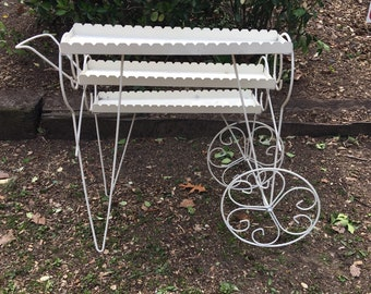 Vintage Metal French Flower Cart