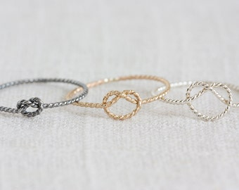 Twisted Rope Knot Ring - Choose Your Style!