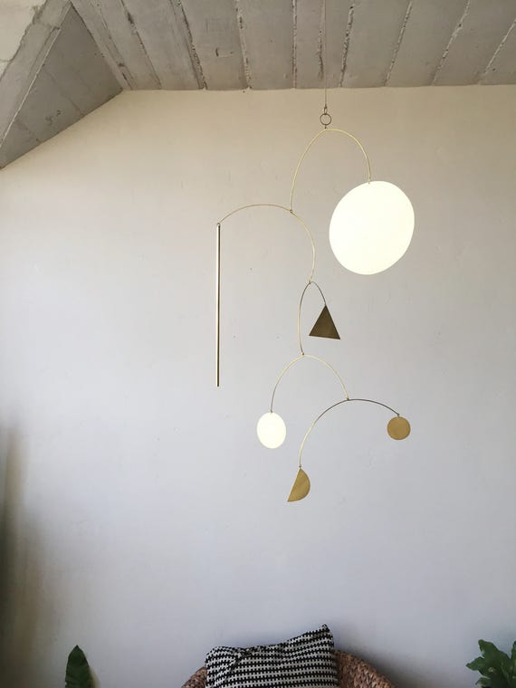 """Geometric Brass Mobile - """"Luce"""" - made-to-order - 3 week turnaround time"""