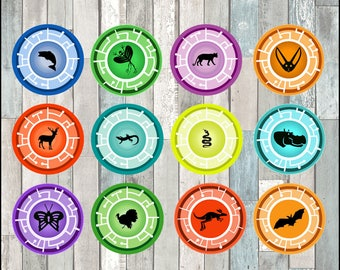 Wild Kratts Toppers instant download, Printable Wild Kratts party cupcakes Topper, Creature Power Disks toppers