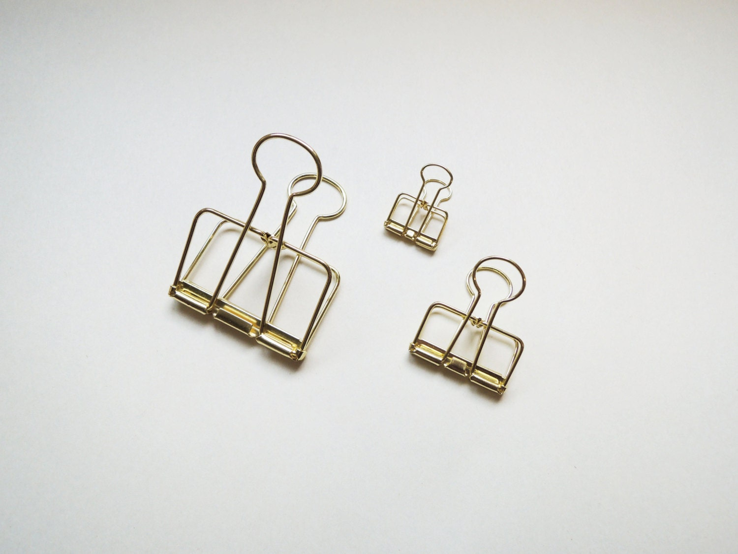 Reduced Gold Wire Bulldog Clips