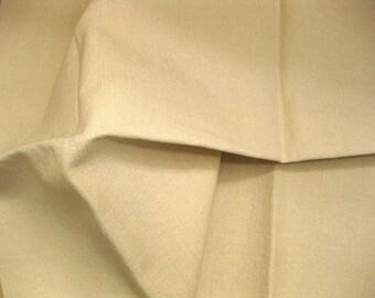 Solid Burlap Like Bone Textured Highland Designer Fabric Sample Vanilla Cream