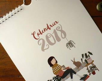 2018 House Rabbit Wall Calendar. For rabbits lovers !