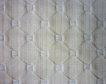 """Par de hermosas cortinas naturales, cortinas forradas, diseño tradicional, excelente estado, cortinas de 60 """"x 54"""", poliester/algodón blanco"""