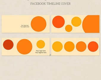 4 Circle Facebook Timeline Covers - Facebook Timeline Template - PSD Template - Customize Facebook Page - Instant Download - F218