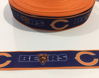 3 Yards of Ribbon - Chicago Bears 7/8 inch Wide