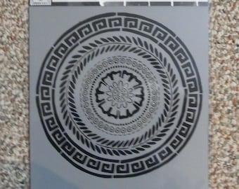 GREEK MEDALLION   Stencil Girl laser cut stencil  9 x 12