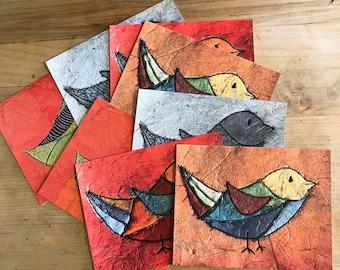 Little Birds- Set of Eight Notecards