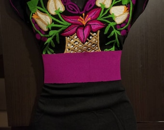 Mexican blouse(includes belt), Mexican shirt, Mexican clothes, mexican clothing, mexican top, mexican dress, mexican clothes, blusa mexican
