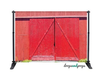Red Barn - Photography Backdrop