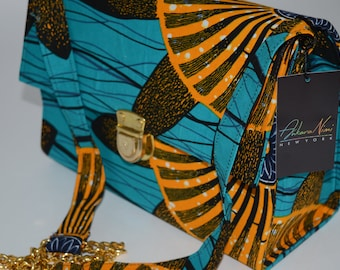 "African Print/ Ankara ""Bimbola Collection"" longer strapped crossbody bag"