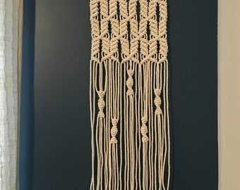 Arrows Macrame Wall Hanging on Natural Driftwood