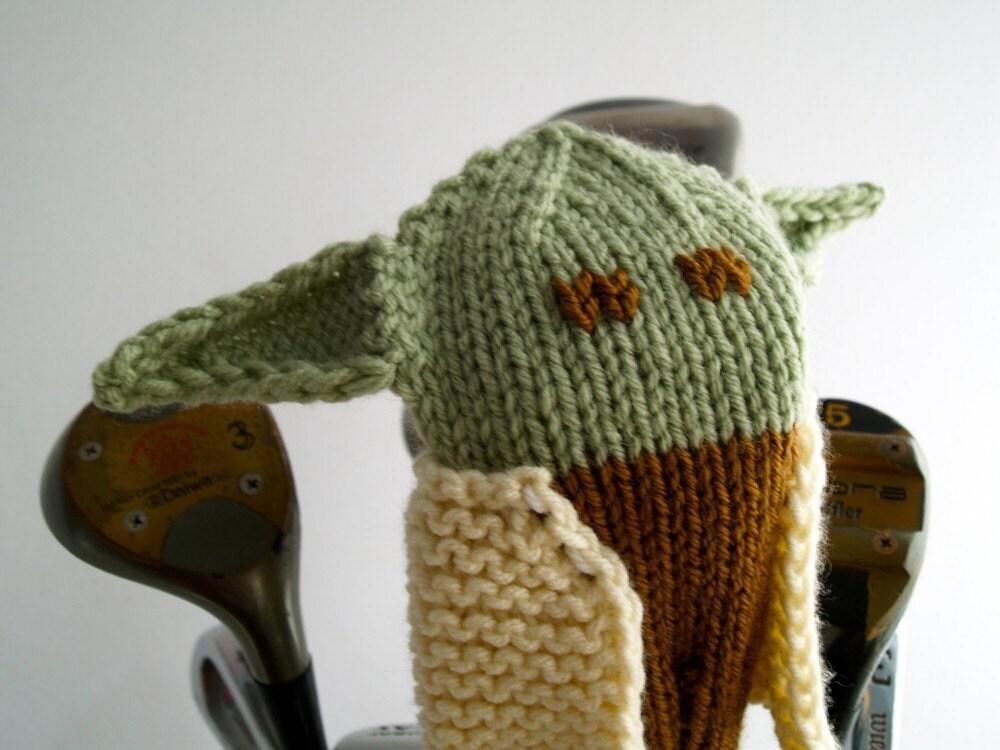 Knit PATTERN Yoda Golf Club Cover PDF from TraceyKnits on Etsy Studio