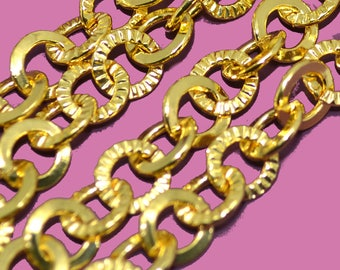 Chain 8mm twisted mesh color gold