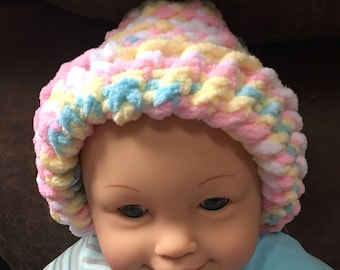 Adorable handknit  baby hat