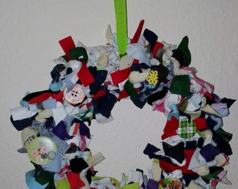 Small Rag Wreaths