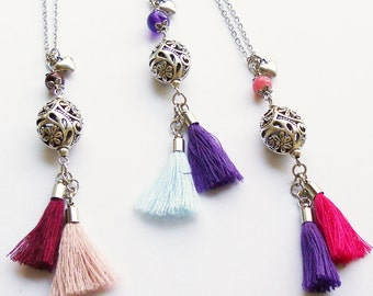 Double tassel necklace