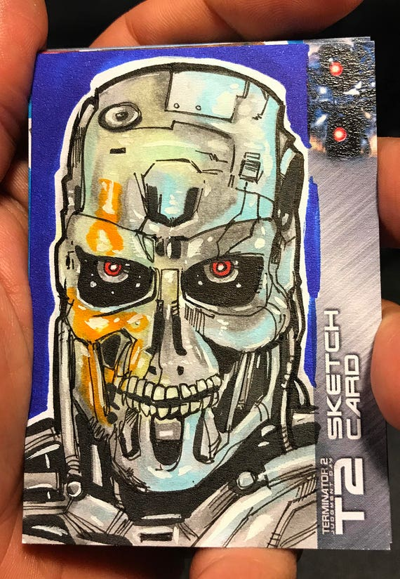 T2: 25th Anniversary Terminator 2 Artist Sketch Card