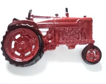 Vintage Signed JJ Red Tractor Brooch/Pin