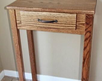 Foyer Table Oak : Foyer table etsy