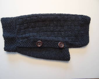 Cozy dog sweater for small dogs in dark charcoal grey