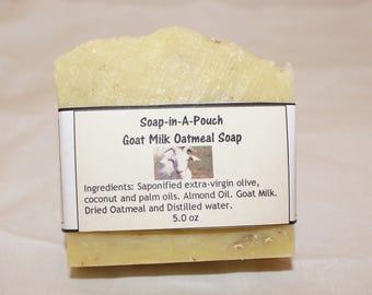 Goat Milk & Oatmeal Soap/Goat Milk Soap/Oatmeal Soap/Goats Milk Oatmeal Soap/Moisturizing Soap/Handmade Goat Milk Oatmeal Soap/Soothing Soap