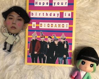 BIGBANG birthday card Kpop Korea BTS exo Snsd Blackpink 2ne1