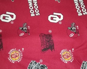 University Of Oklahoma Sooners OU Flannel Fabric