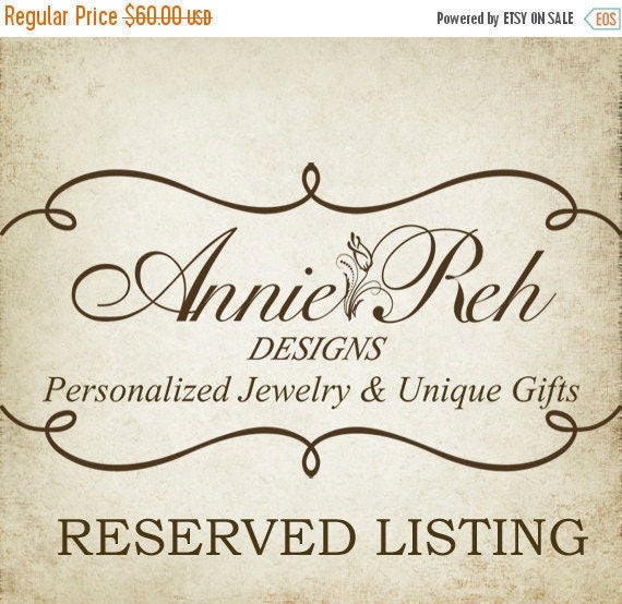 Reserved for Angela Cena