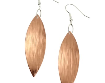 7 Year Anniversary Gift  Copper Leaf Earrings 7th Anniversary Gift For Her Seven Year Anniversary Gift Copper Anniversary Gifts for Her