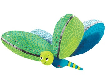 Cute Dragonfly Ultra Shape XXL Mylar Spring, Summer Fun Mylar Balloon, New, Kids, Insects, Bugs, Parties, Decorations 40 inch