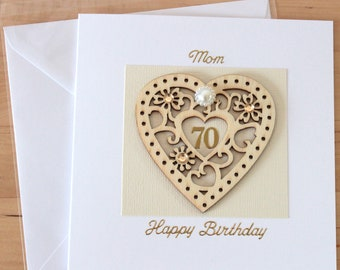 70th Birthday card, gift, 70, 70th Birthday card mum, mom, mam, grandma, granny, nanny, nan, nana, auntie, wife, husband, daughter, men, her