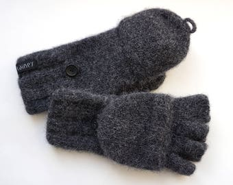 convertible mittens, felted mittens