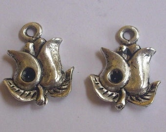 Set of 2 ROSE charms