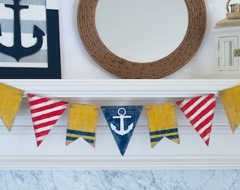 Nautical Banner, Anchor Banner, Nautical Baby Shower Banner, Lighthouse Banner, B285