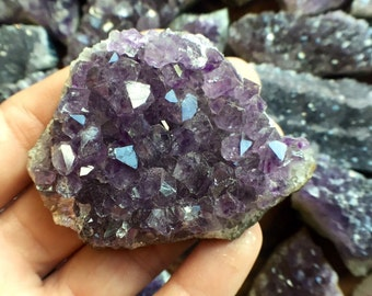 Amethyst Cluster- medium size, February Birthstone, Altar Space, Collector Specimen, Brazilian, Natural Minerals
