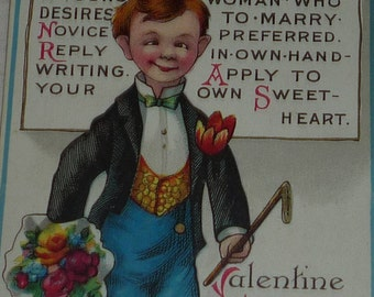 Girl Wanted Antique Valentine Postcard