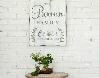 Personalized Family Sign - Rustic Wall Decor - Custom Wooden Sign - Wedding Gift - Anniversary Gift - Family Sign - Wooden Sign