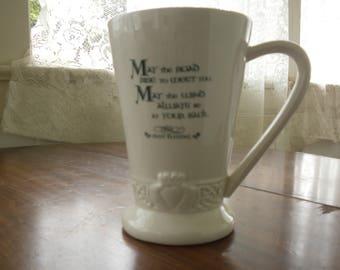 Irish Blessing Mug - Tall Latte Coffee Cup - Russ Berrie
