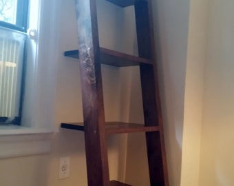 Ladder shelf, Leaning bookshelf