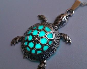 Turtle pendant necklace animal totem beach necklace sea turtle sea turtle necklace turtle jewelry sea turtle glowing necklace beach jewelry turtle pendant glowing jewelry gifts for her aloadofball Gallery
