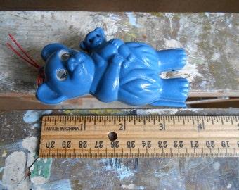 Vintage Blue Plastic Bear