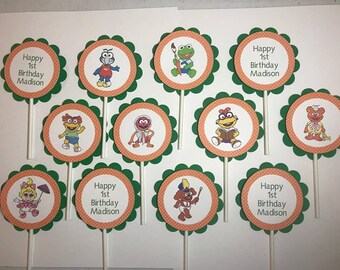 Muppet Babies Inspired Cupcake Toppers/