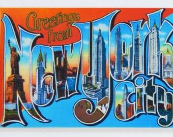 Greetings from New York City Fridge Magnet