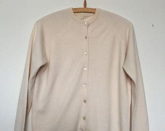 Cream vintage St Michael ladies cardigan